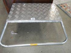 A Milenco aluminium caravan step.