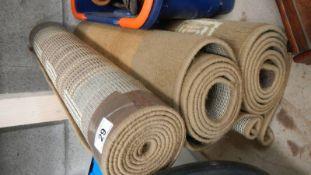 Three rugs.