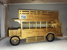 A matchstick model of a London 'B' type bus