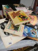 A mixed lot of LP and 45 rpm records.