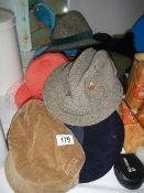 A quantity of hats.
