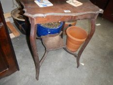 An old mahogany side table.