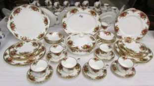 A good lot of Royal Albert Old Country Roses tea and dinner ware comprising meat platter, tureen,