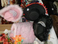 A quantity of novelty/seaside hats.
