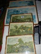 A quantity of fox hunting prints.
