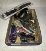 9 Gent's watches & 2 novelty watches