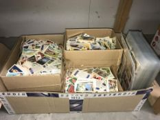 3 boxes of loose tea cards & quantity of tea cards (mostly complete sets) in plastic sleeves