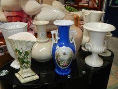 A quantity of vases.