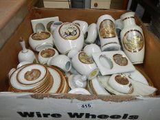 A box of assorted Japanese and other china.