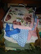 A mixed lot of clean linen etc.