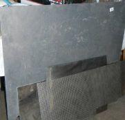 Sheets of tin and aluminium,