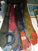 A quantity of clean neck ties.