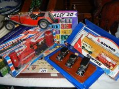 A small quantity of collector's cars.