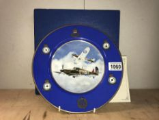 A Royal Worcester Battle of Britain commemorative plate No: 49/1500