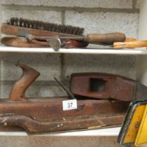 A quantity of old wood planes.