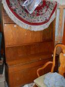 A mahogany sideboard.