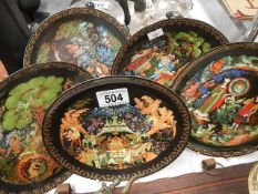 Five Japanese collector's plates.