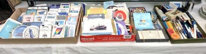 A good lot of shipping memorabilia including playing cards & coasters etc.