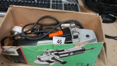 A boxed angle grinder.