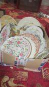 A good box of china plates.