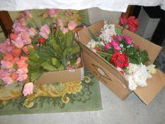 A quantity of silk flowers.