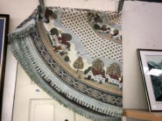 A large round tapestry style wall hanging/table cloth (diameter 190cm approximately)