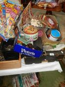 A large lot of needlework items including threads, patterns etc.