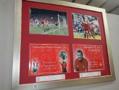 A large Nottingham Forest poster.