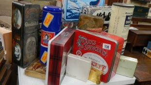A mixed lot of old tins.