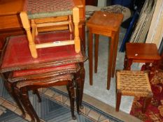 A quantity of small furniture items.