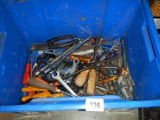 A box of spanners etc.