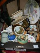 A box of collectable china.