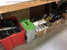 4 boxes of Xbox & Nintendo Wii games, accessories,