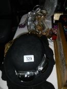 A mixed lot of mid 20th century hats, bags, shoes etc.