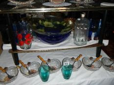 A quantity of transfer printed glass ware.