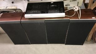A Bang & Olufsen tape recorder & 2 pairs of Bang & Olufsen speakers (model Beocord 1700)