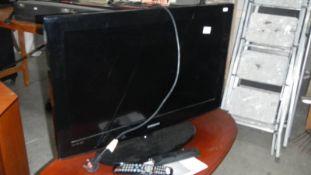 A Samsung flat screen television.