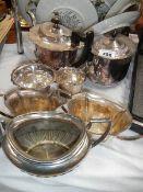 A quantity of EPNS teapots etc.