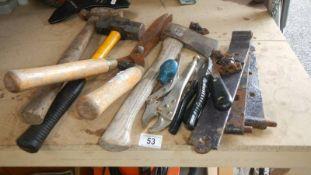 A quantity of tools etc.
