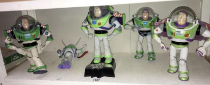 5 x Buzz Lightyear toys (small one A/F)