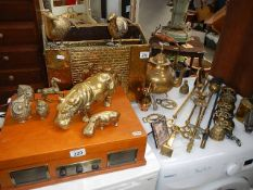 A good lot of brass ware.