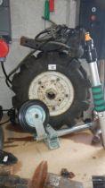 A new 'Jockey' wheel and 2 wheels.