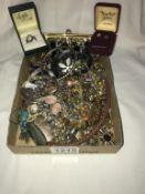 A mixed lot of necklaces,