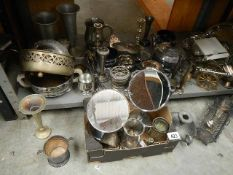 A large lot of metal ware.