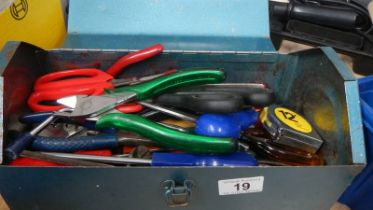 A tool box with clean tools.