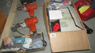 2 drills, a grinder and brake hub cylinders.