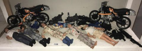 A quantity of Action Man Doll's etc.
