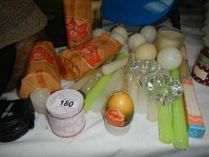 A quantity of candles.