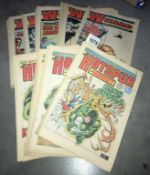 A collection of The Wizard & The Hotspurs & Hornet comics (approximately 40 comics)