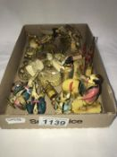 A selection of vintage oriental celluloid tourist items & figures A/F